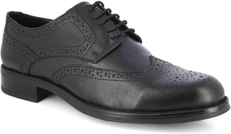 Alberto Torresi Alberto Torresi Croma Black Formal Shoes Derby For Men(Black)