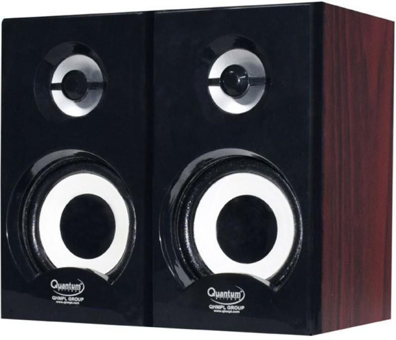 Quantum QHM636 6 W Portable Laptop/Desktop Speaker(Brown & Black, 2.0 Channel)