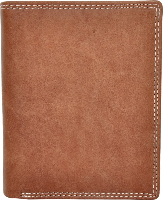 Chandair Men Brown Genuine Leather Wallet(9 Card Slots)