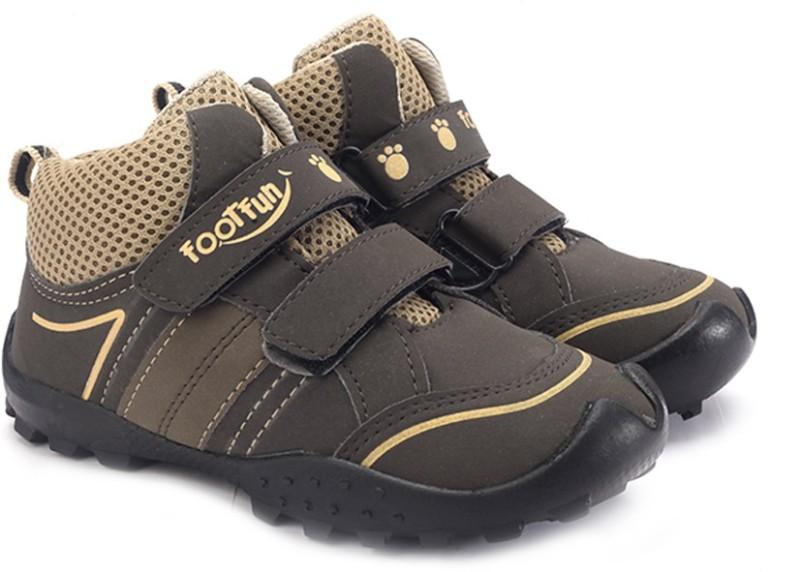 Footfun Boys & Girls Strap Running Shoes(Brown)