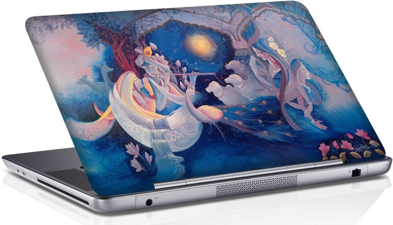 Shopmania krishna playing flute for radha Vinyl Laptop Decal 15.6