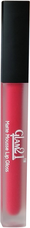Glam 21 Matte Red Color Lip Gloss(5 g, Red)