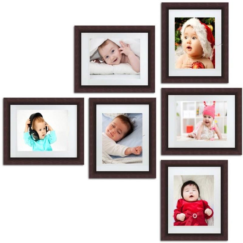 aadinath collection Wood Photo Frame(Brown, 6 Photos)