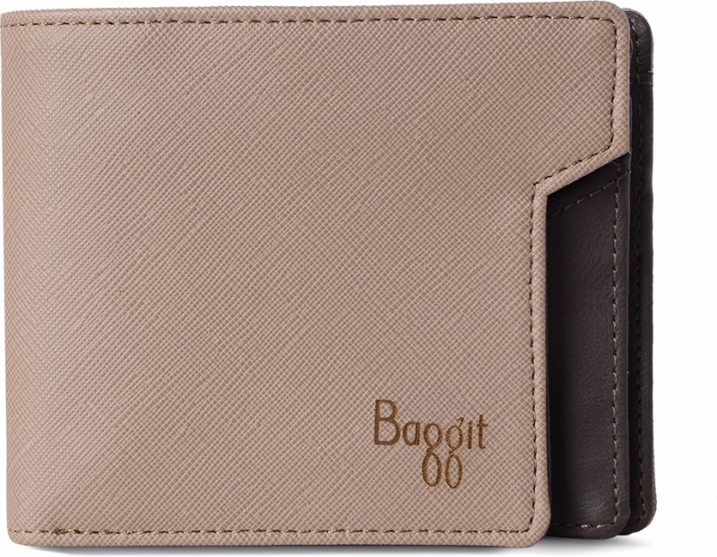 Baggit Men Beige Artificial Leather Wallet(6 Card Slots)