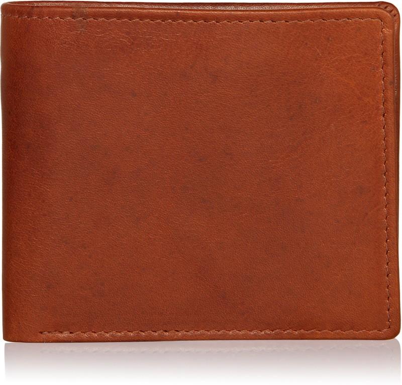 Leather Zentrum Men Tan Genuine Leather Wallet(5 Card Slots)