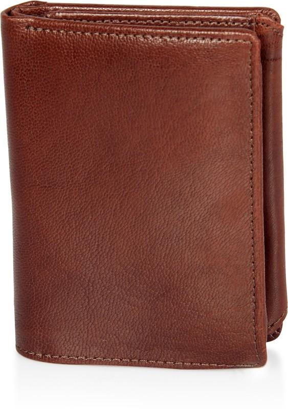 Leather Zentrum Men Tan Genuine Leather Wallet(15 Card Slots)
