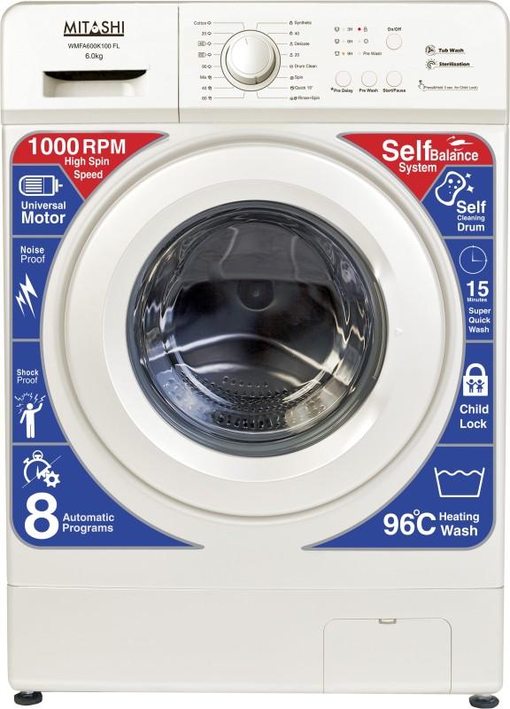 Mitashi 6 kg Fully Automatic Front Load Washing Machine White(WMFA600K100...