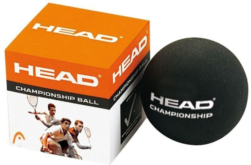 Head Championship Double Dot Squash Ball - Size: Standard(Pack of 1, Black)