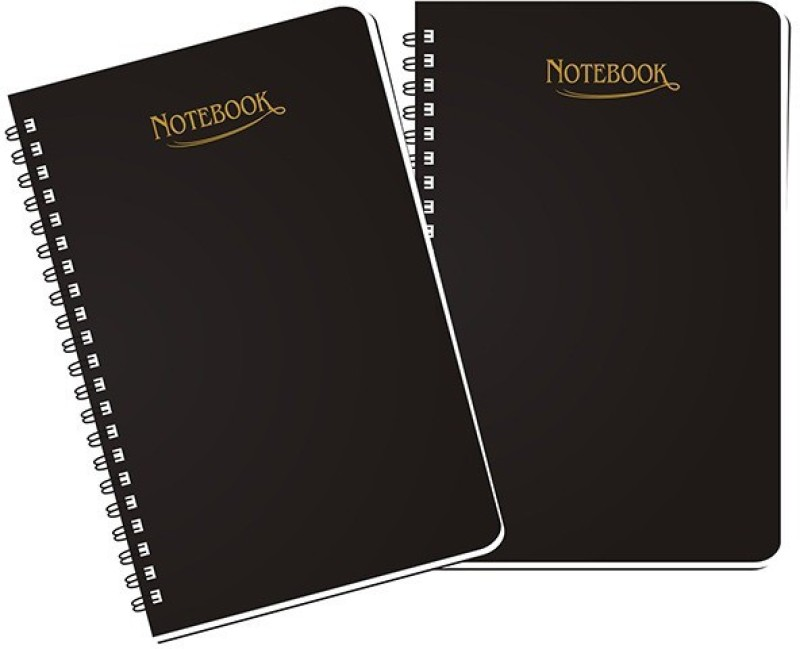 Abstract Collection A5 Notebook(A5 Regular Notebook (Set of 2), Black, Pack of 2)