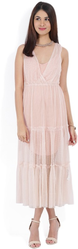 Forever 21 Women Maxi Pink Dress
