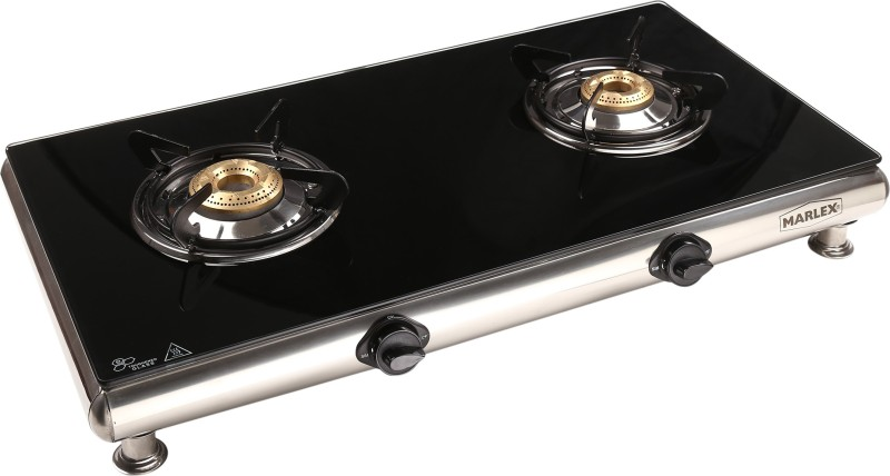 Marlex Royale 2 Burner Glass Manual Gas Stove(2 Burners)