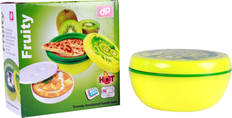 DP Fruity Trendy Insulated Lunch Box Tiffin Container (Color-Green) 1 Containers Lunch Box(500 ml)