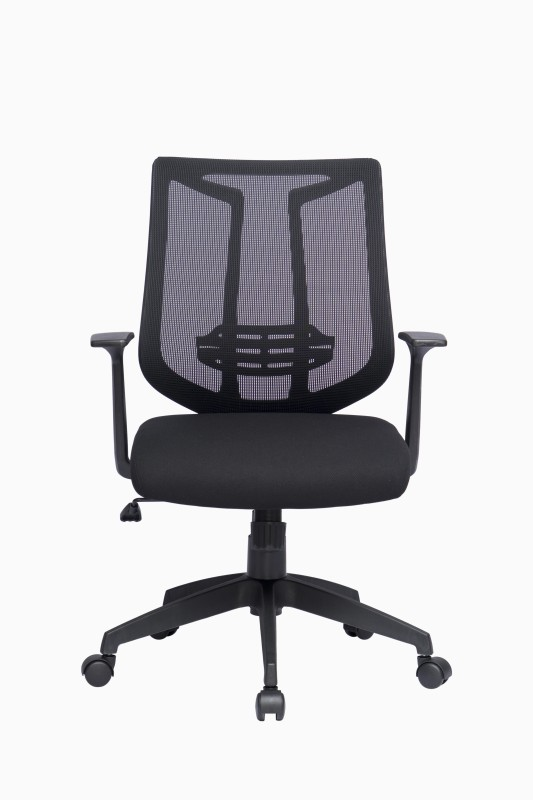 ZENNOIIR Office Chairs Fabric Office Arm Chair(Black)