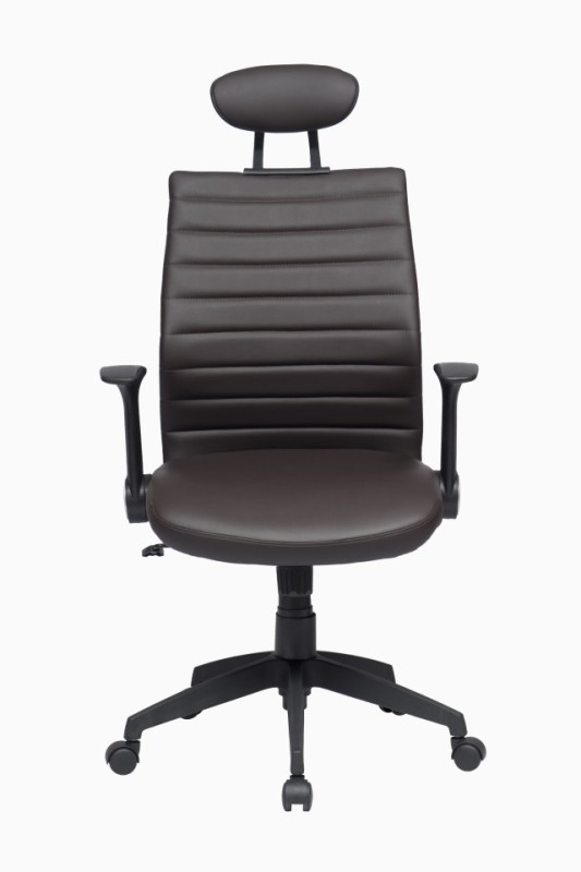 ZENNOIIR Office Chairs Leatherette Office Arm Chair(Brown)