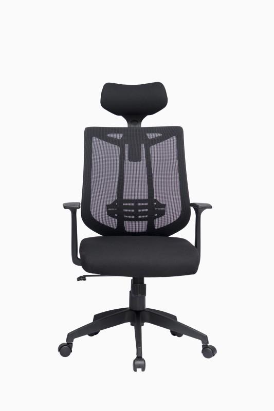 ZENNOIIR Office Chairs Fabric Office Arm Chair(Black)