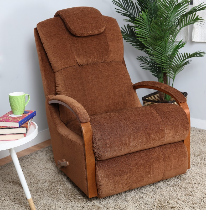 La-Z-Boy Fabric Manual Rocker Recliners(Finish Color - Dark Brown)