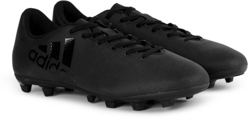 Adidas X 17.4 FXG Football Shoes For Men(Black)