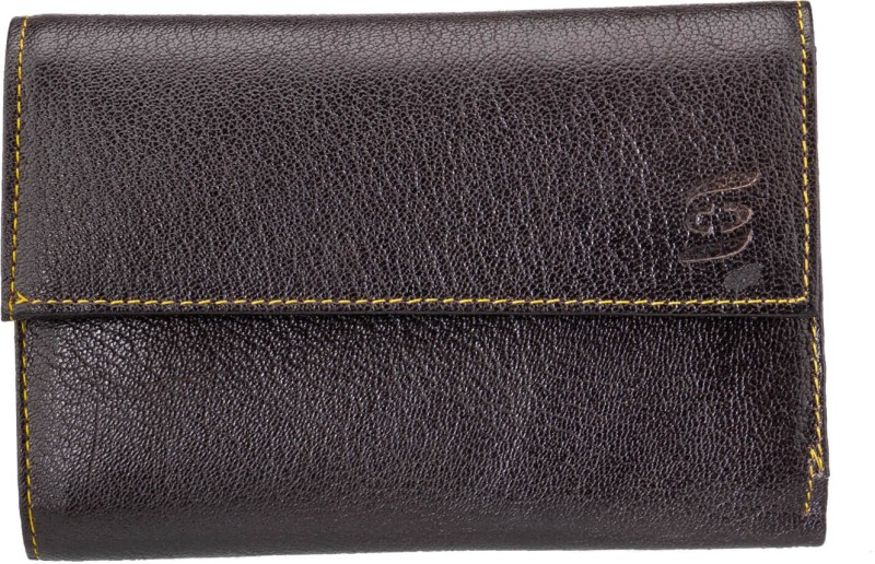 Swiss Design Men Brown Genuine Leather Wallet(4 Card Slots)