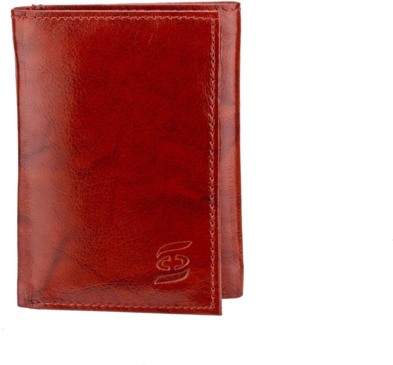 Swiss Design Men Brown Genuine Leather Wallet(6 Card Slots)