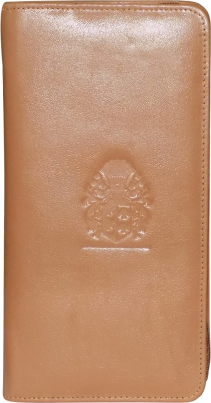 Style 98 Girls Tan Genuine Leather Wrist Wallet(8 Card Slots)