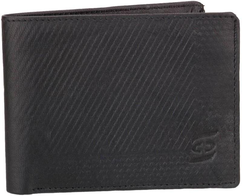 Swiss Design Men Black Genuine Leather Wallet(5 Card Slots)