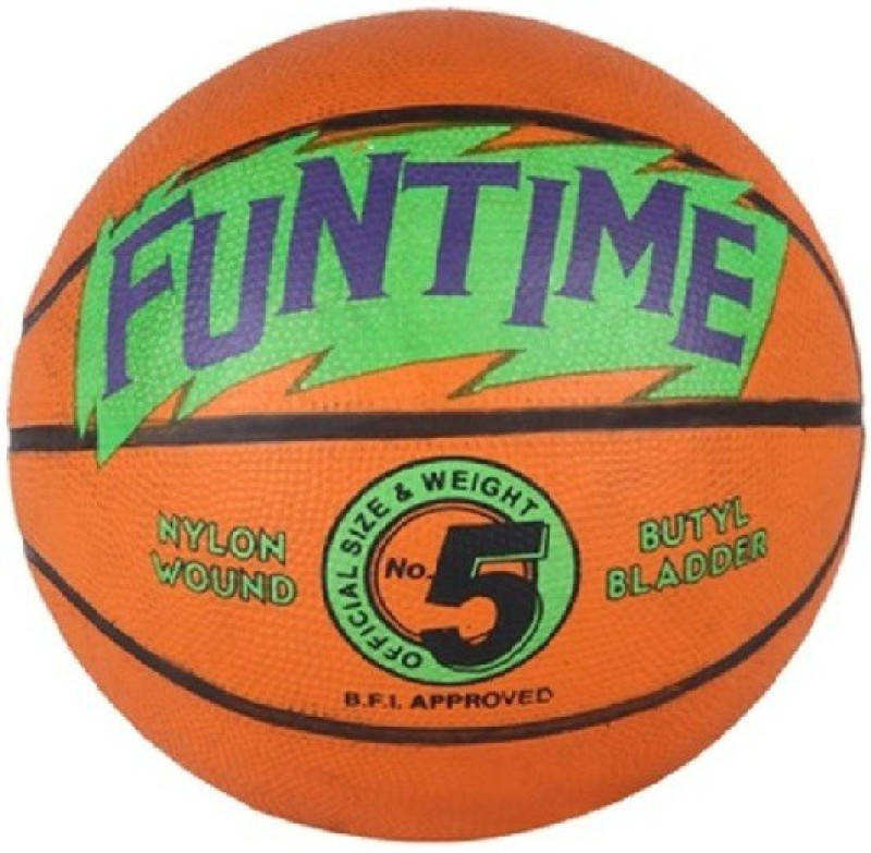 Cosco Funtime Basketball - Size: 5(Pack of 1, Orange)