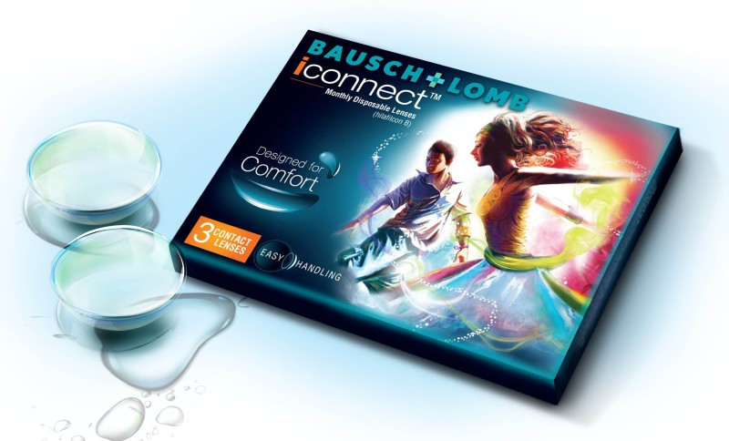 Bausch & Lomb I-CONNECT MONTHLY DISPOSABLE LENS Monthly Contact Lens(1, Clear, Pack of 3)