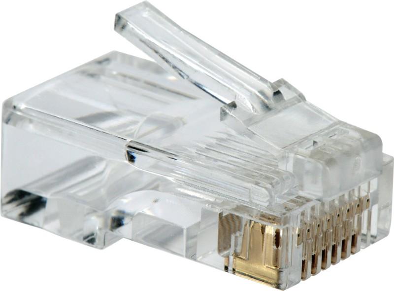 BalRama 1000pcs RJ45 Connectors Modular 8 Pin Network Cable Plugs RJ-45 Adapter for Cat5 Cat5e Cat6 Rj 45 Ethernet Cable Plugs Heads Crimper Networking Combo Set