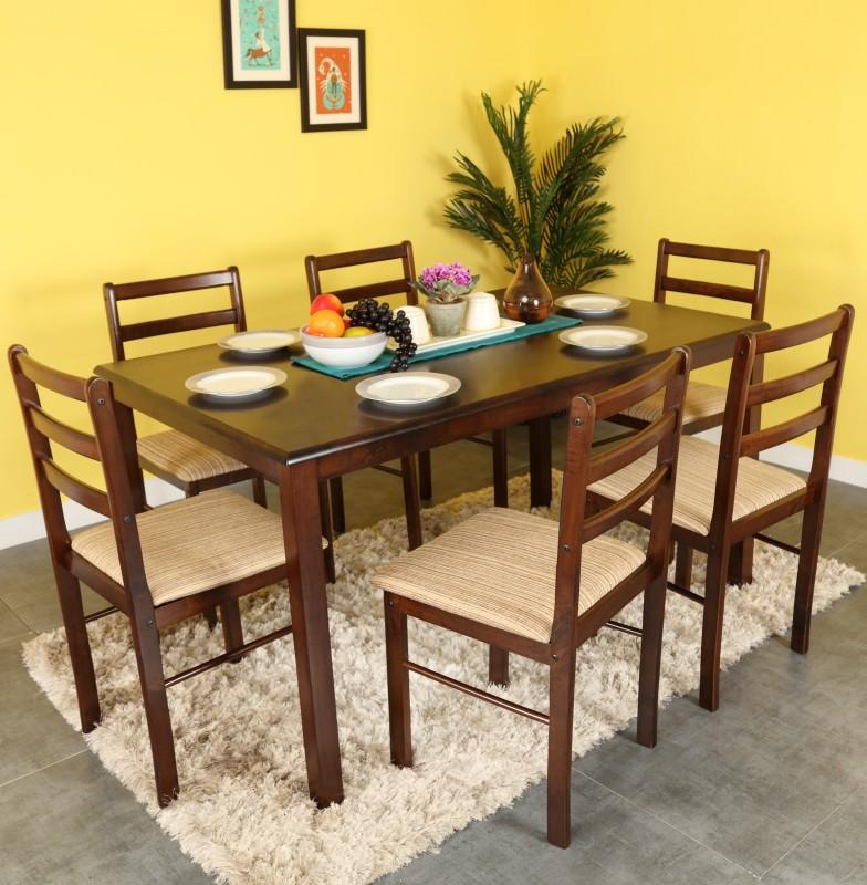 78869613df Woodness Solid Wood 6 Seater Dining Set(Finish Color - Wenge). Flipkart.com