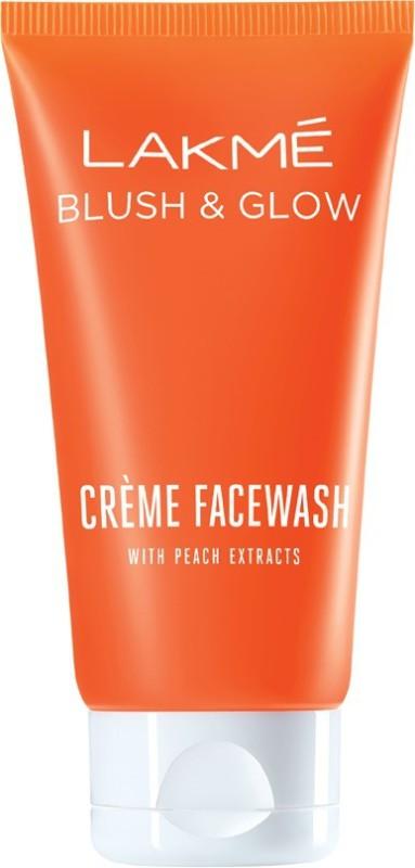 Lakme Blush and Glow Peach Extracts Creme Face Wash(50 g)