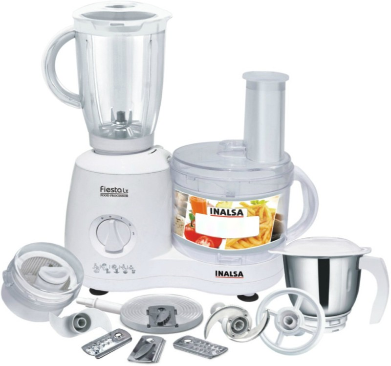 Inalsa Fiesta Lx 650 W Food Processor(White)