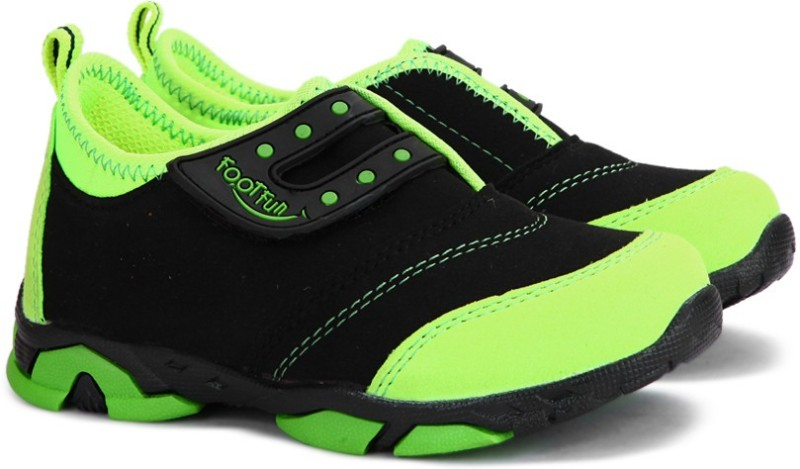 Footfun Boys & Girls Velcro Running Shoes(Green)