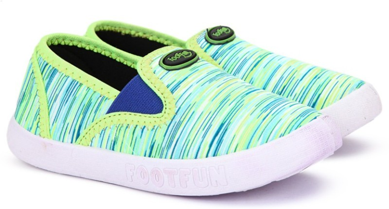 Footfun Boys & Girls Slip on Running Shoes(Green)