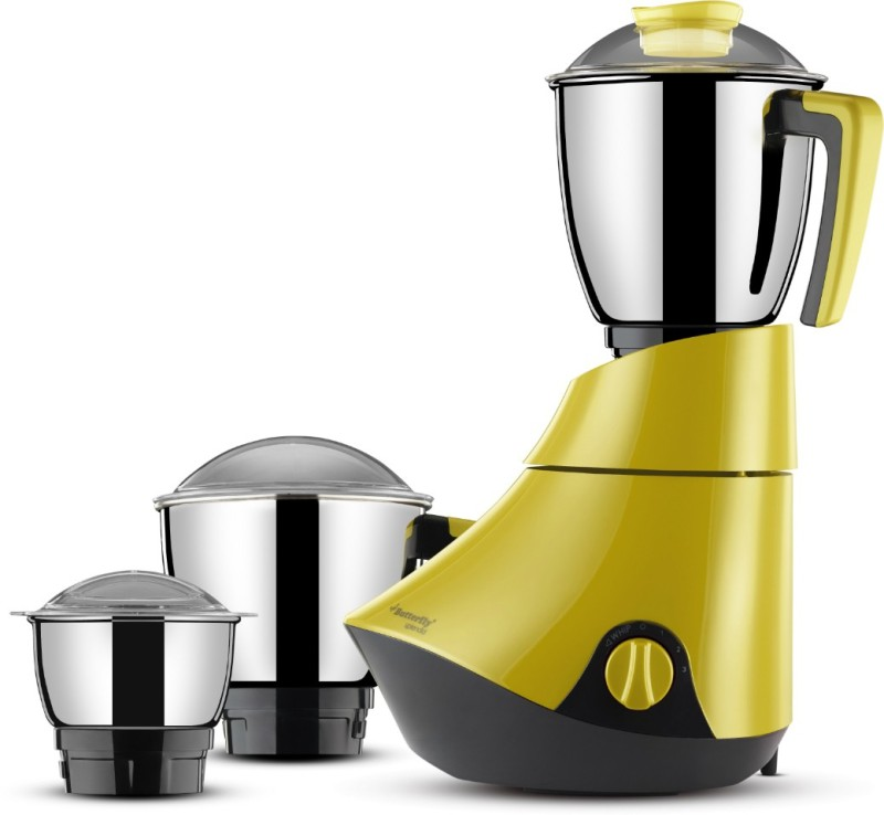 Butterfly Splendid 750 W Mixer Grinder(Lemon Yellow, 3 Jars)