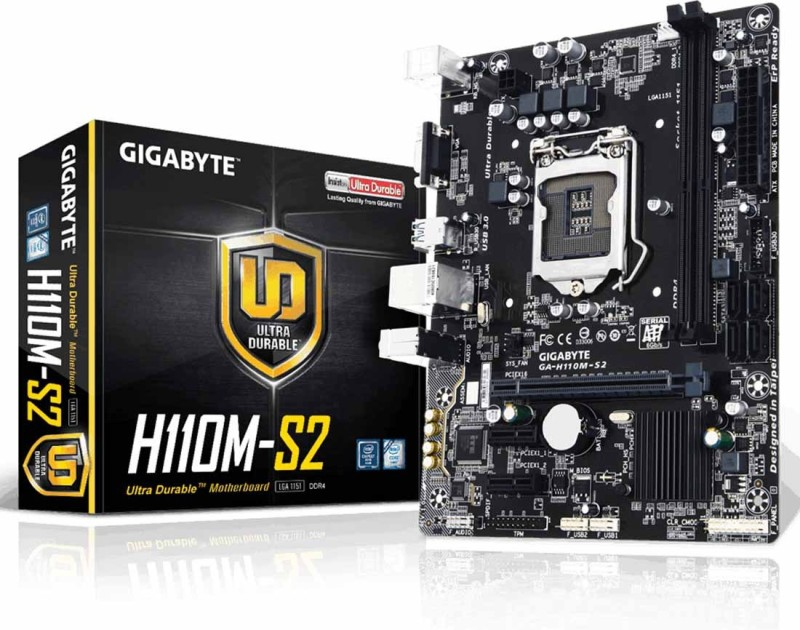 Gigabyte H110M-S2 Supported Socket 1156 For 6th & 7th Gen CPU Motherboard