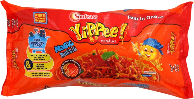 YiPPee Magic Masala Instant Noodles 280 g(Vegetarian)