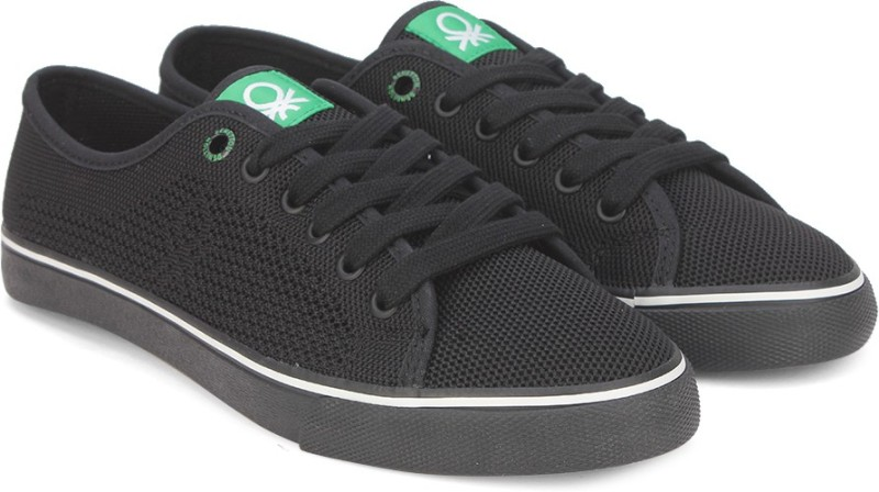 United Colors of Benetton Sneakers For Men(Black)