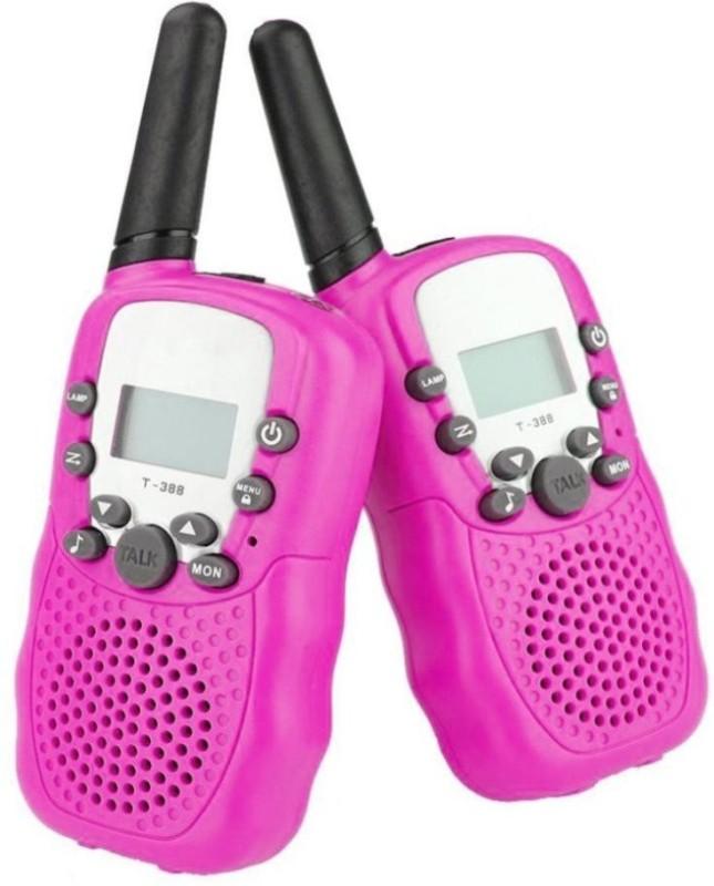 ShopyBucket New generation Portable Walkie Talkie Walkie Talkie Set Walkie Talkie(Pink)