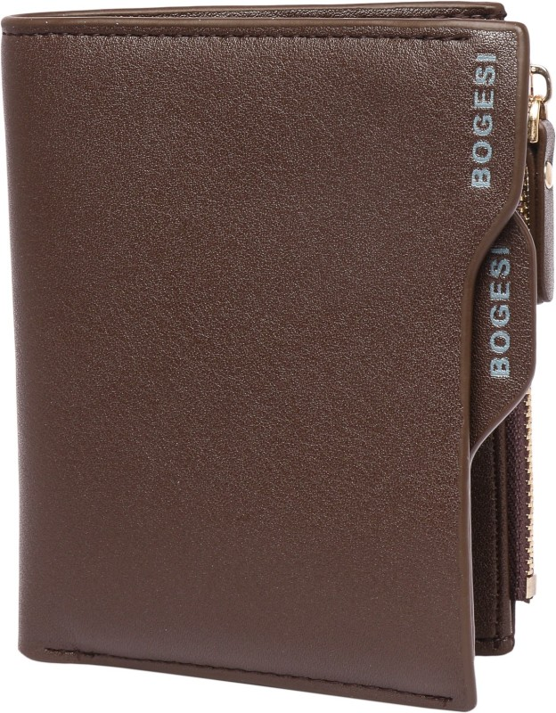 Bogesi Men Brown Artificial Leather Wallet(9 Card Slots)