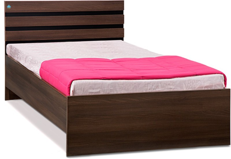 Delite Kom Cocoa Engineered Wood Single Bed(Finish Color - Black & Acacia Dark Matt Finish)