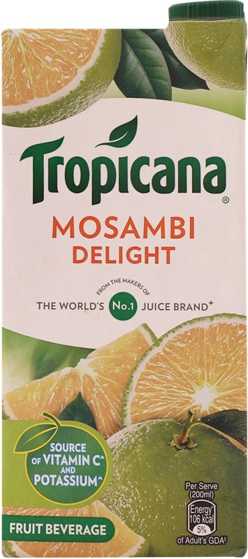 Tropicana Mosambi Delight Fruit Beverage 1 L