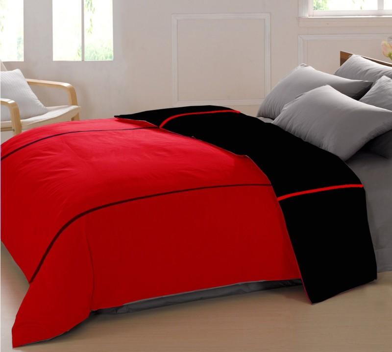 AURAVE Queen Cotton Duvet Cover(Red)