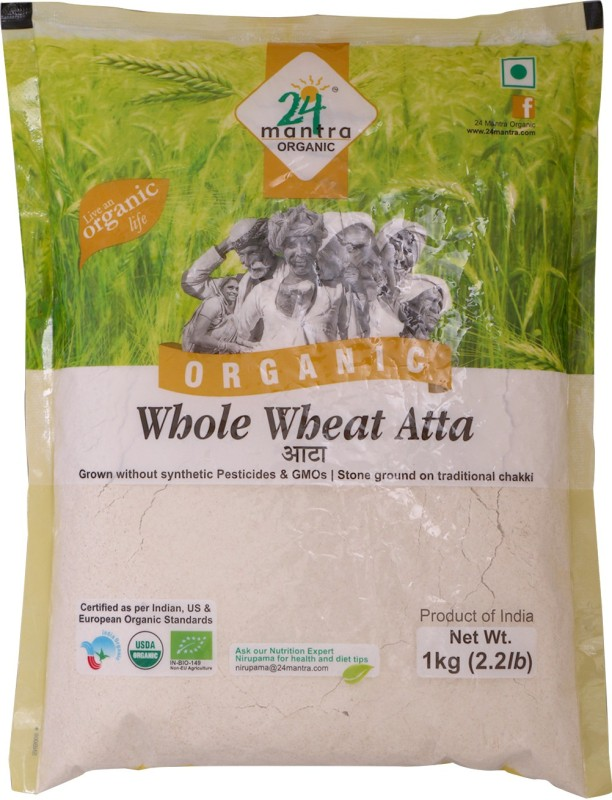 24 Mantra Organic Whole Wheat Atta(1 kg)