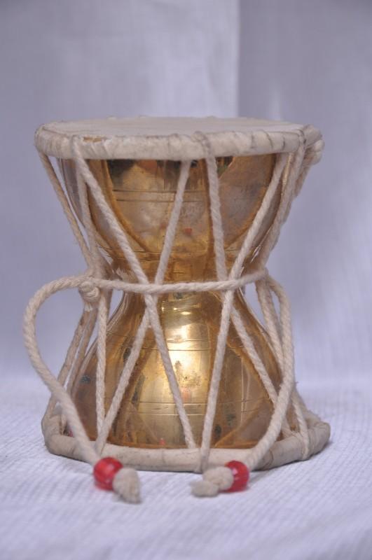 Neelkanth Rudraksha damroo in brass Brass Pooja Bell(Pack of 1)