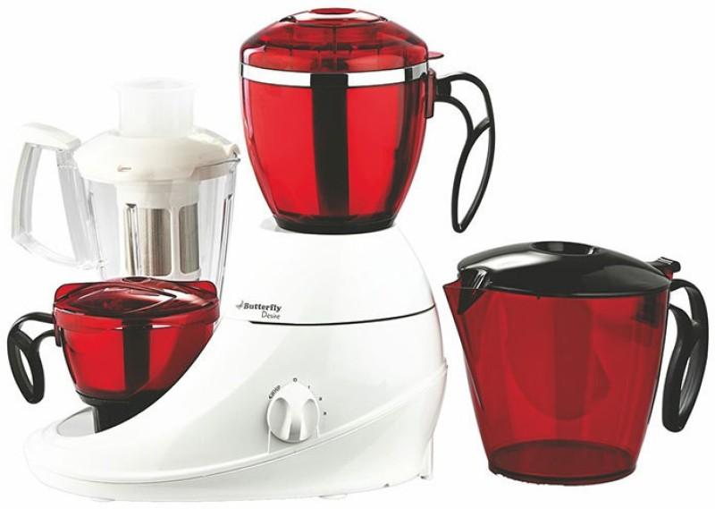 Butterfly Desire 3J Desire 750 W Mixer Grinder(Red, White, 3 Jars)