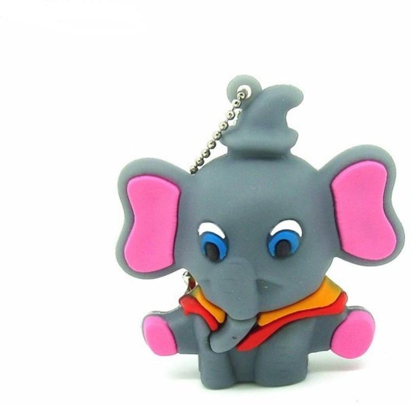 Microware Grey Elephant Shape 16 GB Pendrive 16 GB Pen Drive(Grey)