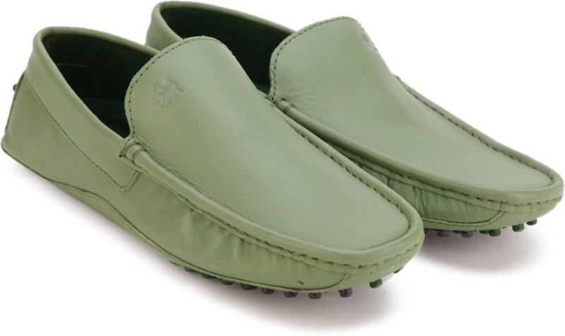 United Colors of Benetton Loafers For Men(Olive)
