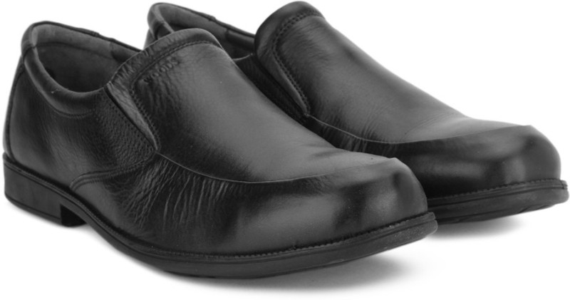 Woods by Woodland Slip On shoes For Men(Black)