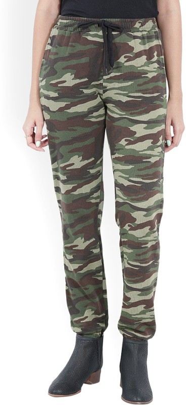Forever 21 Printed Women Brown, Green Track Pants