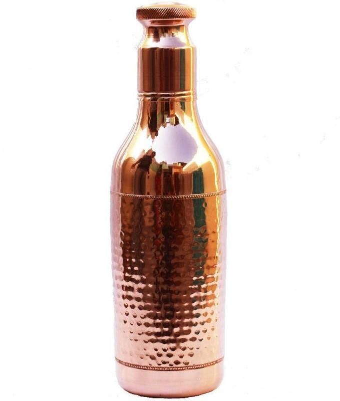 4orke Pure Copper Ayurveda water bottle 1200 ml Bottle(Pack of 1, Brown)